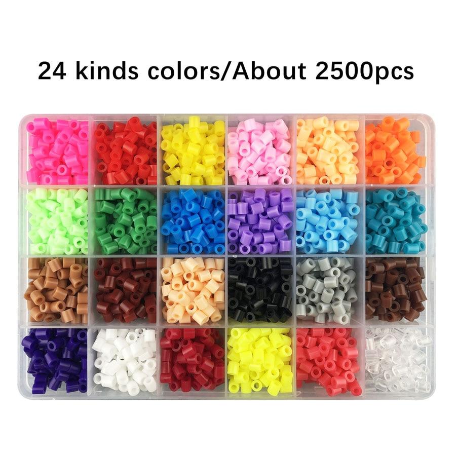 Perler Hama-Abalorios para manualidades para niños, lote de 24 cuadrículas de 5mm...