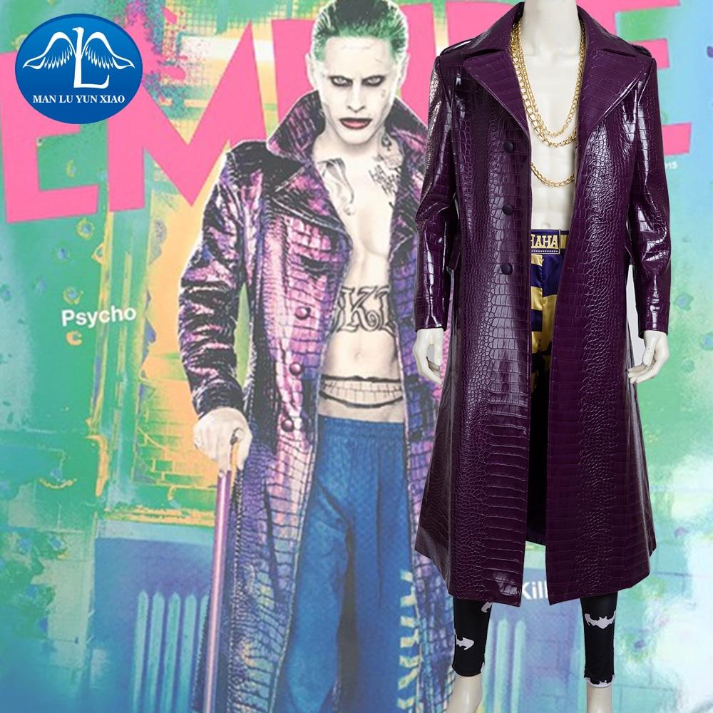MANLUYUNXIAO hombres Joker traje de Cosplay de lujo traje adulto disfraz para Halloween personalizado de alta calidad