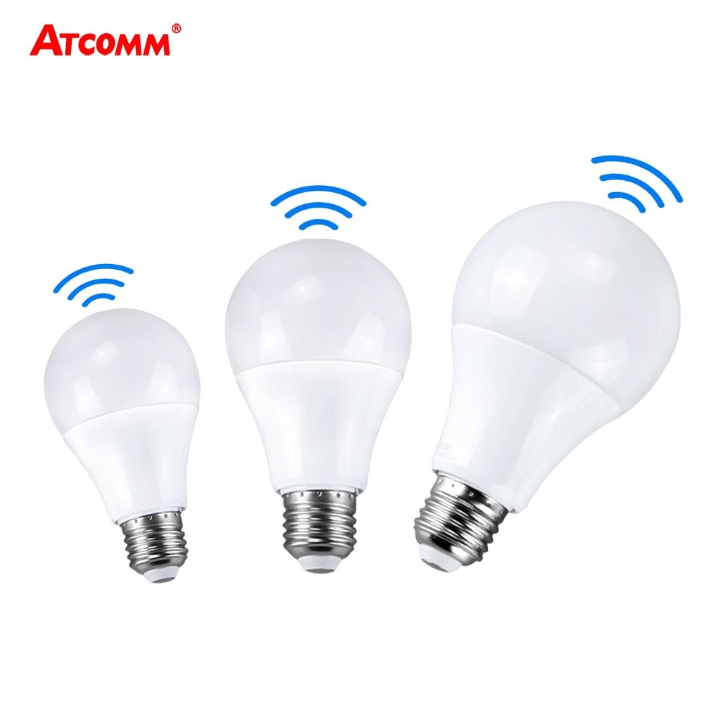 E27 Ampulle LED Glühbirne Sensor Lampe 10 W 15 W 20 W 220 V Smart Radar LED Didoe Scheinwerfer auto OFF/AUF Lampada Kühlen Weiß