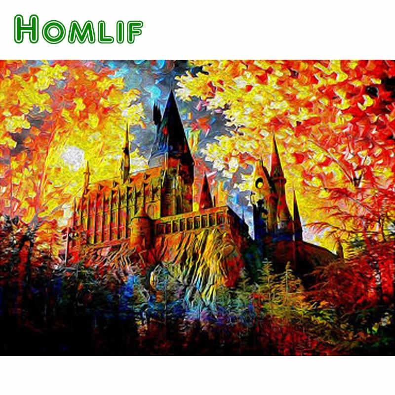 HOMLIF 5D DIY Diamond embroidery Cartoon Gift pictures,diamond painting Cross Stitch full square drill Rhinestone mosaic home