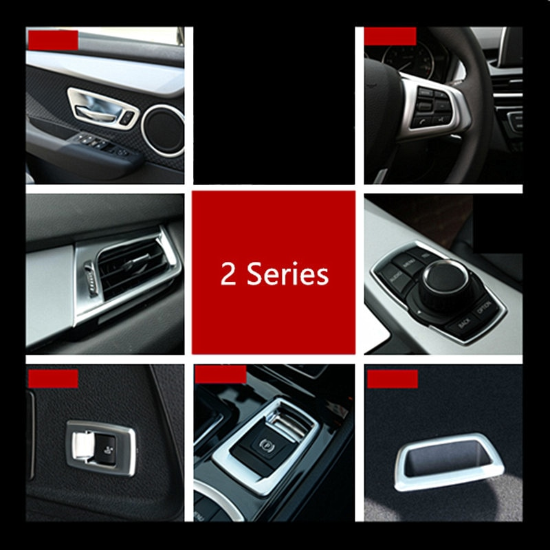 Cromo ABS Puerta de coche Audio círculo de altavoz cubierta Trim para BMW Serie 2 Active Tourer 218i 220i P Lima Marco de botón Decoración