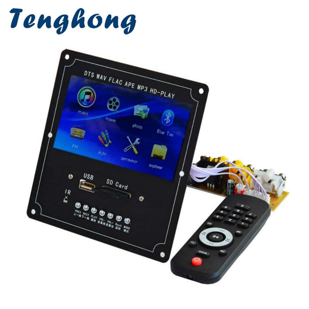 Tenghong 4,3 дюймов LCD аудио видео декодер плата DTS без потерь MP4 MP5 FM USB SD Bluetooth видео приемник APE WMA декодирующий модуль
