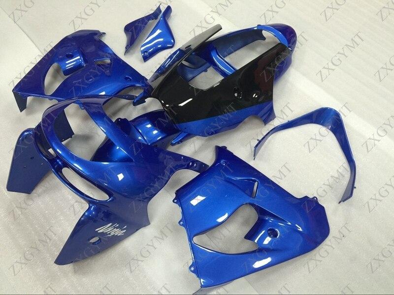 Carenados Zx-9r 1998 - 1999 Kits de cuerpo completo azul Zx 9r 98 carrocería para Kawasaki Zx9r 98