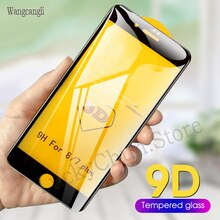 9D Curved Edge Protective Tempered Glass On The For iPhone 6S 6 7 8 Plus X XS Glass XR 11Pro Xs Max