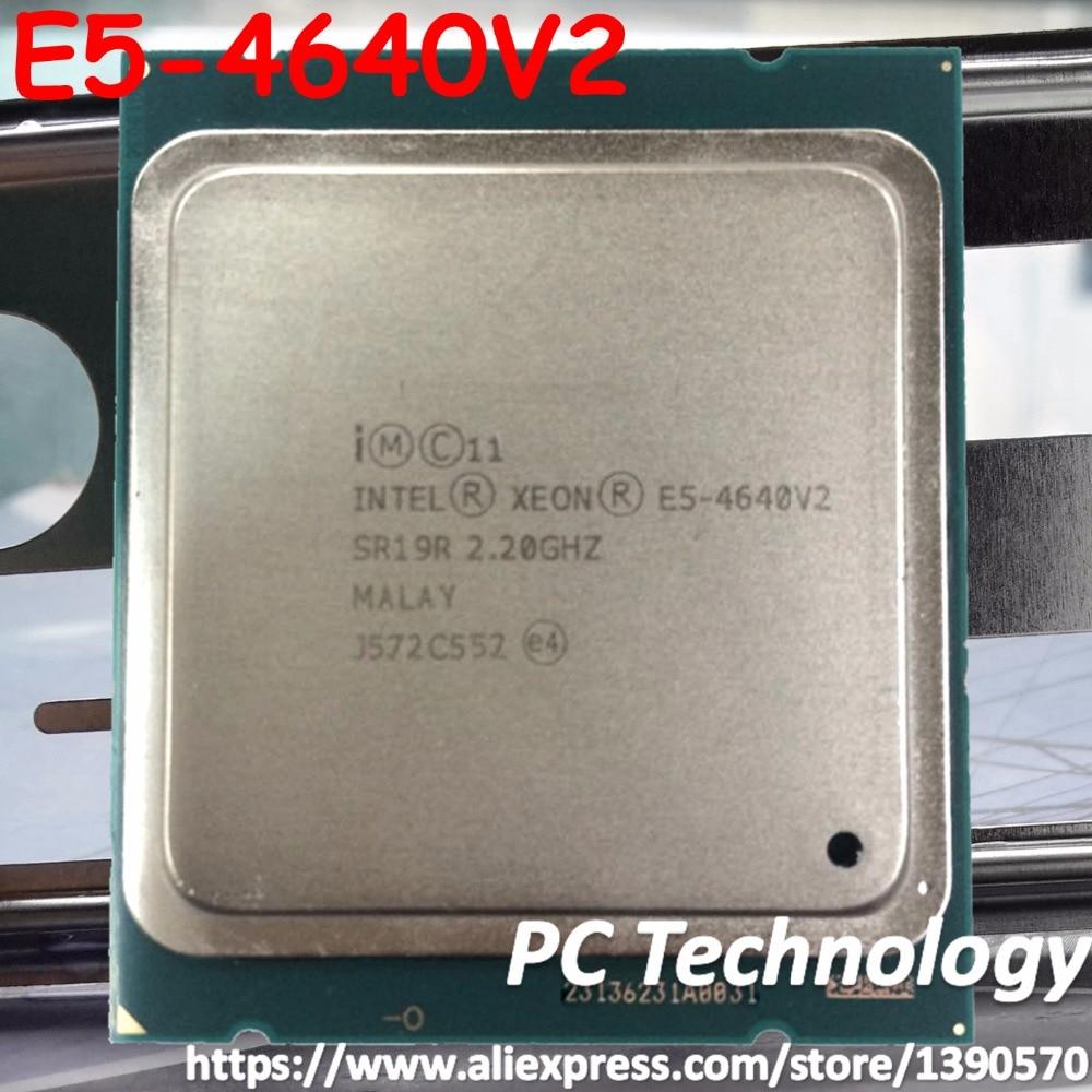 Оригинальный процессор Intel Xeon E5-4640, 10 ядер, 2,20 ГГц, 20 МБ, E5, 4640V2, E5, 4640, V2, FCLGA2011, TPD, 95 Вт, 1 год гарантии