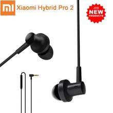 Original xiaomi híbrido pro 2 fones de ouvido mi in-ear fone de ouvido 2 duplo driver tecnologia híbrida controle com fio com microfone