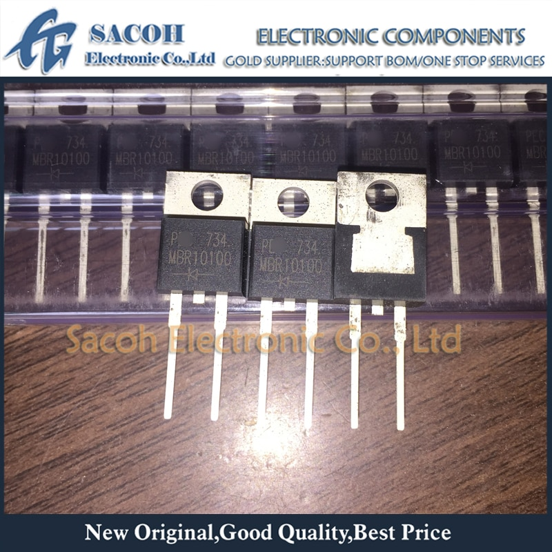 Envío Gratis, 10 Uds. MBR10100 o MBR10100G o MBR10100CT TO-220-2, 10A, 100V, barrera de diodo Schottky