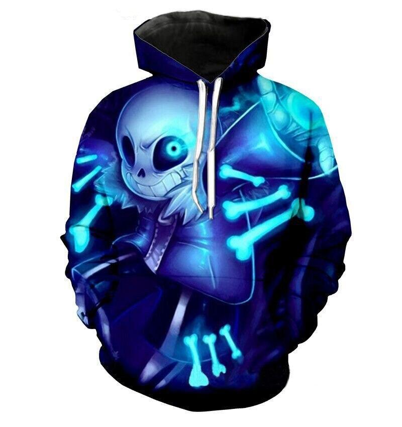 Bien esqueleto Undertale registrar Sans papiro 3D impresión sudaderas con capucha de Halloween Cosplay disfraz Unisex top de diario con capucha abrigo de talla grande