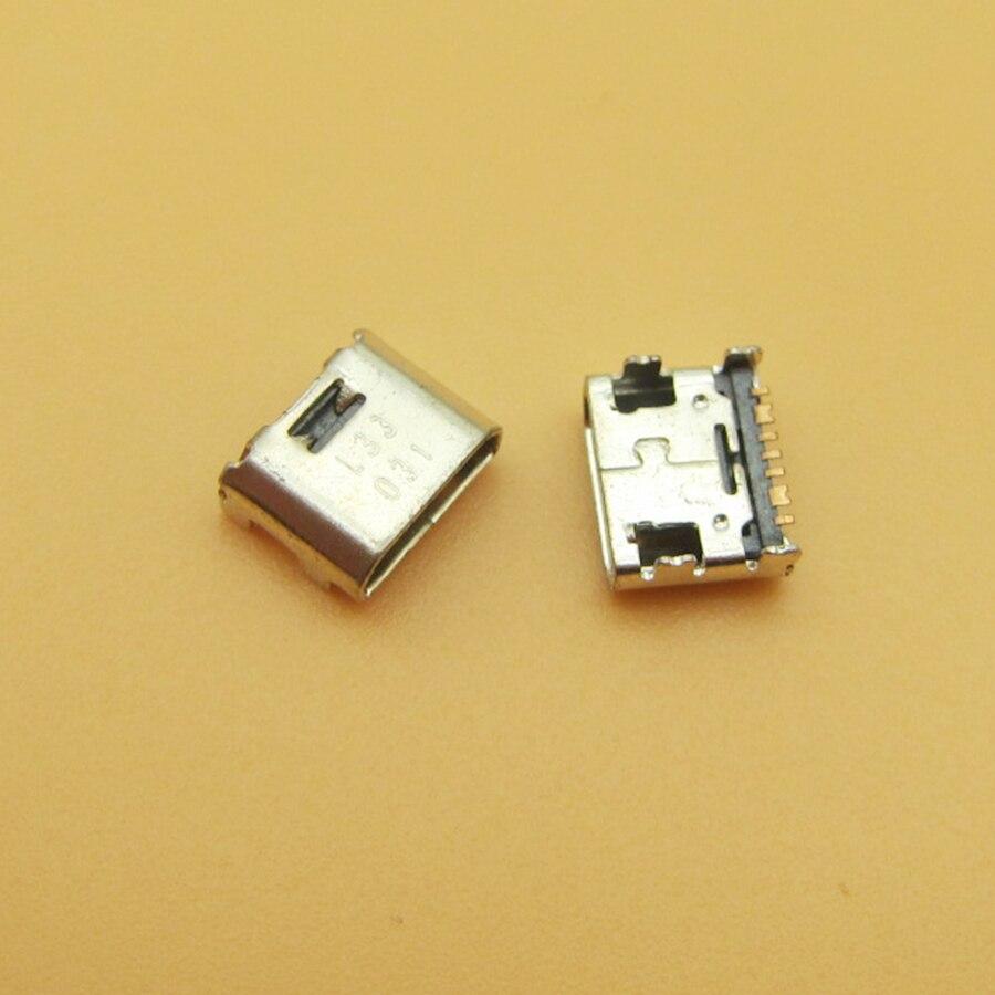 50pcs Micro USB jack presa di corrente Porta del caricatore del connettore di Ricarica per Samsung Galaxy Core Prime G360 G361F Tab E Tab UN Tab 3 Lite 7.0