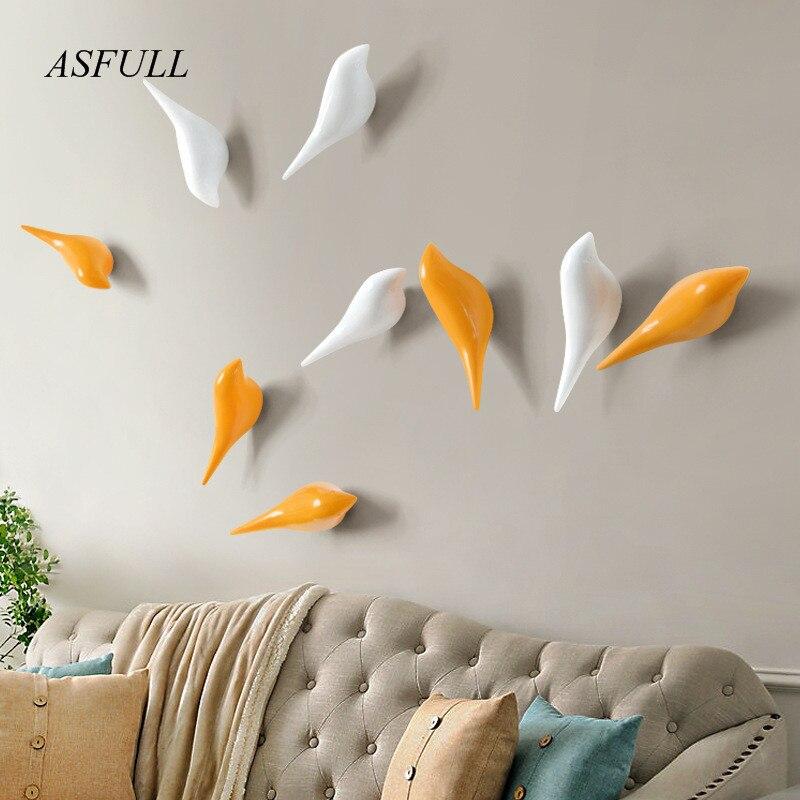 ASFULL クリエイティブ壁フック鳥の装飾樹脂木目フック寝室のドアの後に動物フック 3D コートフックシングルフック壁
