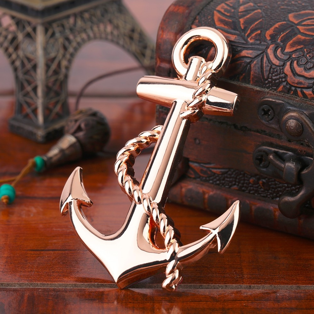 AliExpress - New Black/Silver/Gold Top Quality Boat Anchor Solid Zinc Alloy Car Styling Emblem 3D Sticker Cool Exterior Hot Selling