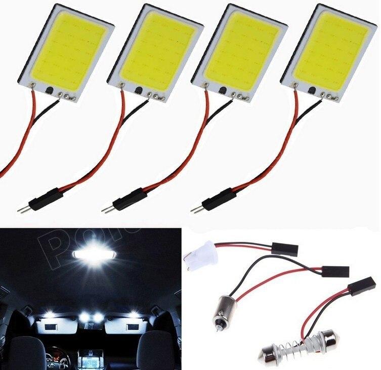 Superventas 10 Uds 3W T10 conector de festón Panel coche vehículo 24 LED SMD COB Chip LED 12V CC luz Interior blanca