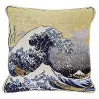 cushion cover cotton polyester double jacquard knitting weave throw pillow covers cushion case art decor great wave edgar dega
