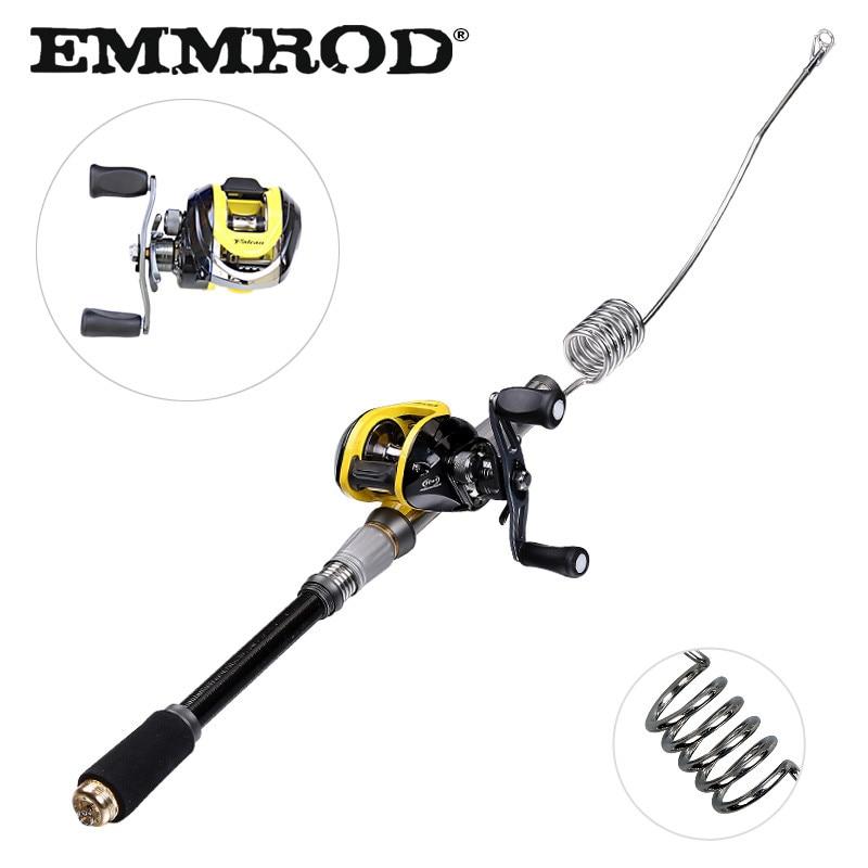 EMMROD Bait Casting Fishing rod fish tackle Scalable 72cm fish rod BaitCast Reel Lure/Boat /Raft/Sea/Rock Fishing rod GSQ-WD