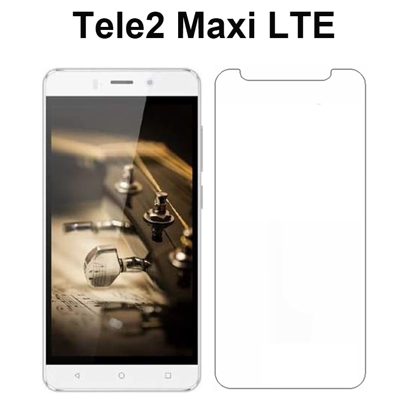Para Tele 2 Maxi LTE 5,0 pulgadas Protector de vidrio de alta calidad para teléfono móvil vidrio templado claro Tele2 Maxi Protector de pantalla LTE película