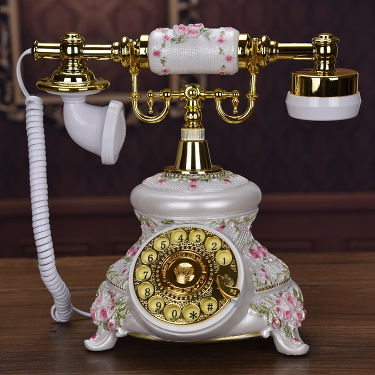 Teléfono clásico de dial rotatorio, teléfono fijo antiguo de estilo americano, teléfonos vintage