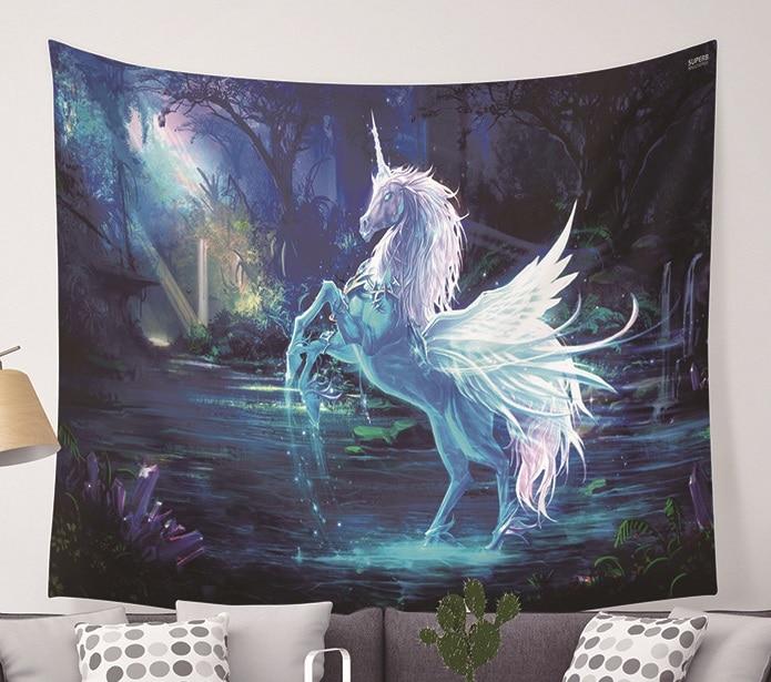 CAMMITEVER Unicorn Fairy Theme Wall Hanging Tapestry Cute Animal Hippie Mandala Yoga Mat Bedspread Sheets Home Decor