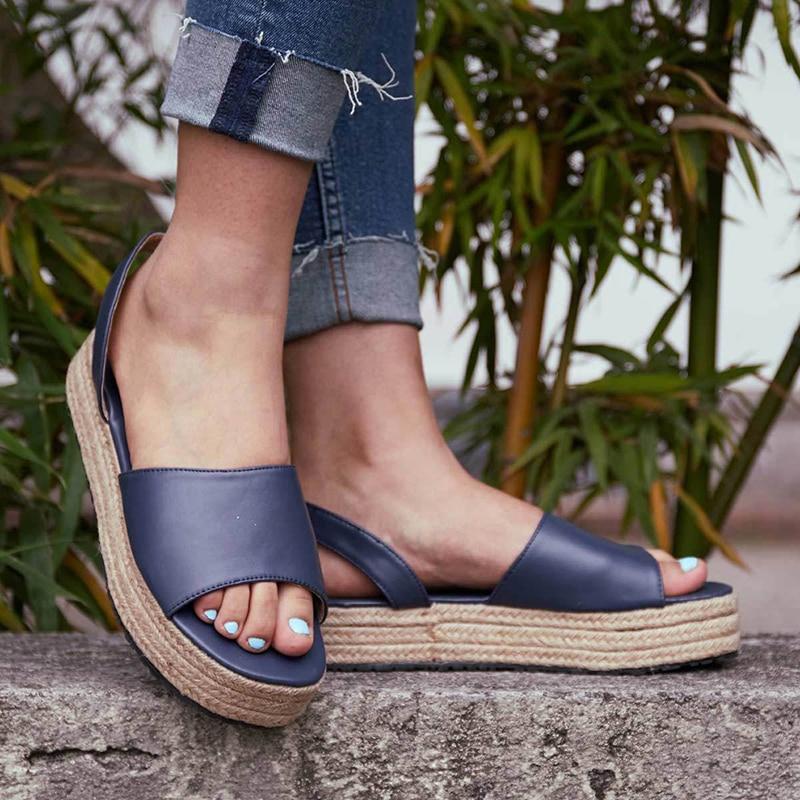 2019 Flip Flop Chaussures Femme Platform Sandals Wedges Shoes For Women Sandals Plus Size High Heels Summer Shoes