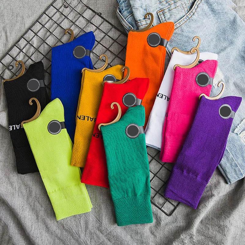 Харадзюку крутые скейтборд Радуга скейтборд средняя трубка носки мода искусство хипстер красочные свободные хлопковые носки женские