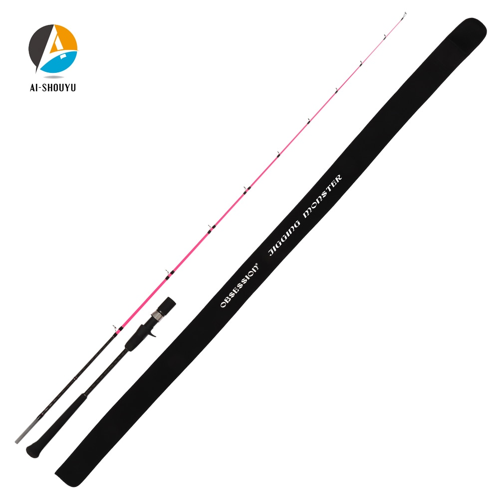 AI-SHOUYU 30T Carbon Slow Jigging Rod 1.98m Fuji Oxide Guide and DPS Real Seat 2 Section Casting Rod Boat Rod Ocean Fishing Rod enlarge