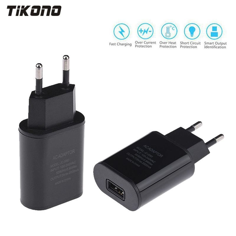 Top Quality 5V 2A EU Plug USB Fast Charger Mobile Phone Wall Travel Power Adapter For iPhone 6 6s 7