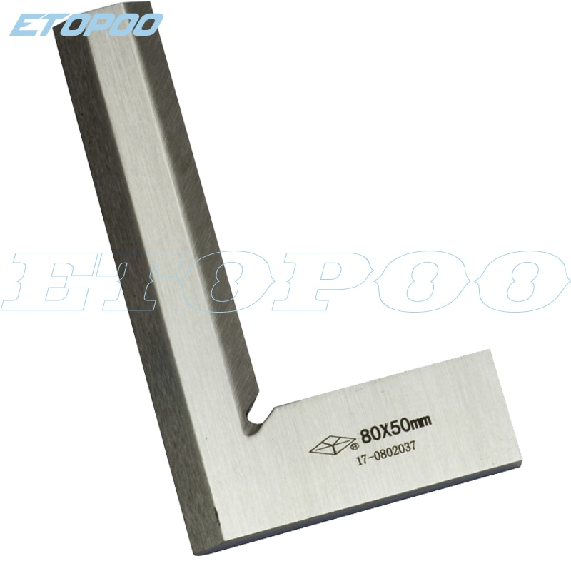 Acero inoxidable 80x50mm Bladed 90 grados ángulo Try escuadra