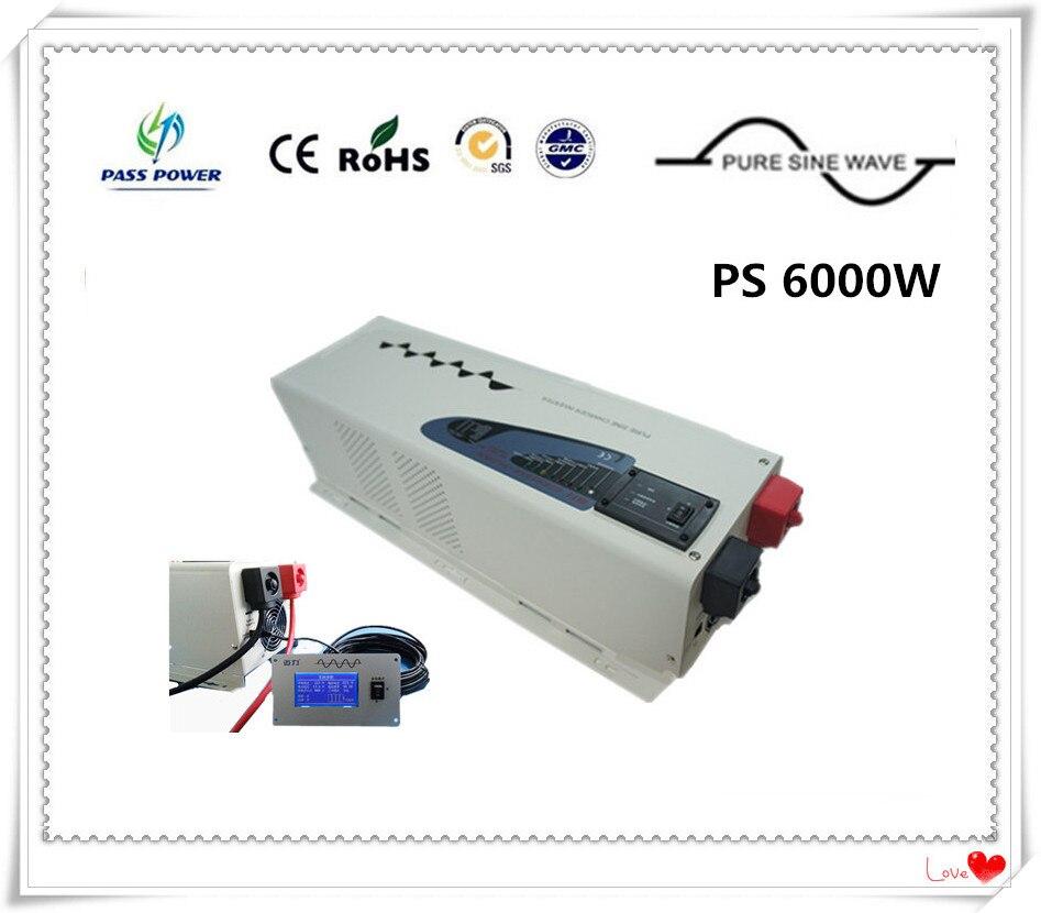 Inversor de onda sinusoidal pura híbrido de 6000W DC AC inversor de baja frecuencia