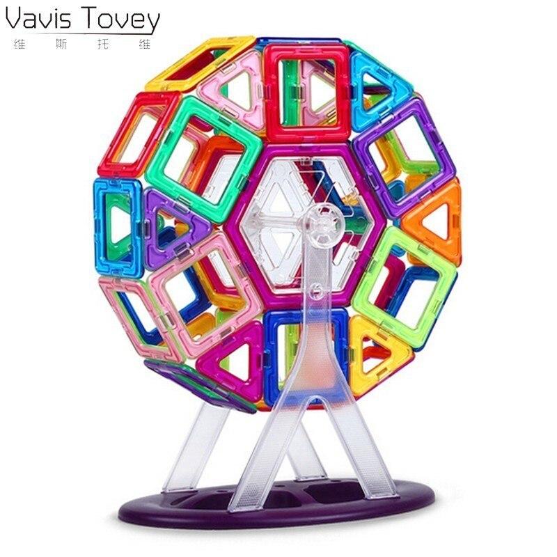 Regalos de cumpleaños para niños, bloques de construcción de Avis Tovey, grandes, Noria, ladrillo de diseño, iluminación, ladrillos magnéticos