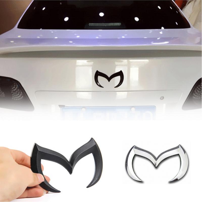 Хромированные Металлические черные, красные, серебристые, золотые наклейки для Mazda M, декоративные металлические наклейки на заднюю крышку автомобиля, эмблемы для Mazda 6 3