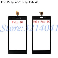 100% testé pour Wiko pulpe 4G/pulpe Fab 4G écran tactile numériseur capteur panneau de lentille en verre externe