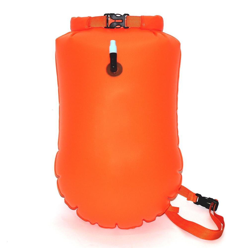 20L mochila impermeable seca inflable al aire libre río aguas arriba PVC bolsa seca natación Drift Sac deportes acuáticos rescate Airbag