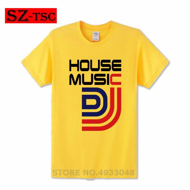 Nova Camisa Dos Homens T de House Music DJ Estilo Amante Imprimir Cotton O Pescoço Tops Tees Verão Masculina T-Shirt da forma Roupas engraçadas