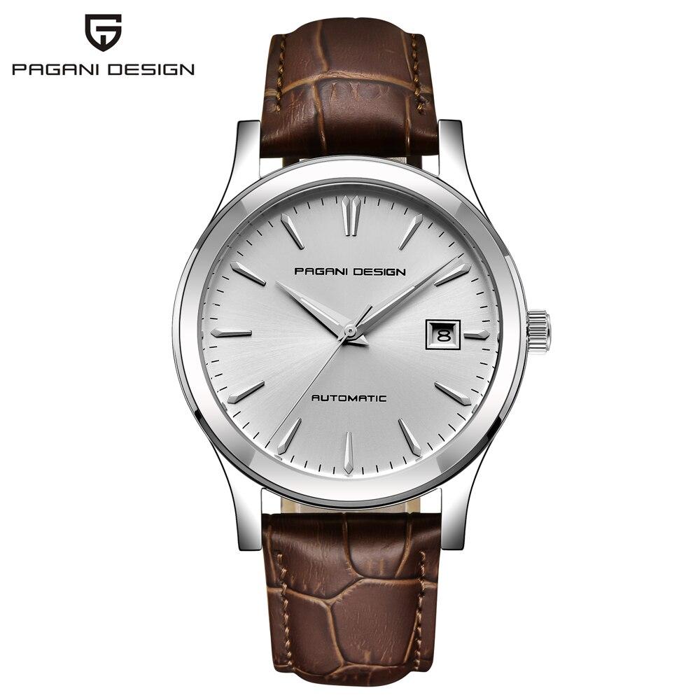 PAGANI تصميم 2019 جديد الرجال الكلاسيكية ساعات آلية الأعمال مقاوم للماء على مدار الساعة الفاخرة العلامة التجارية جلد طبيعي ساعة أوتوماتيكية