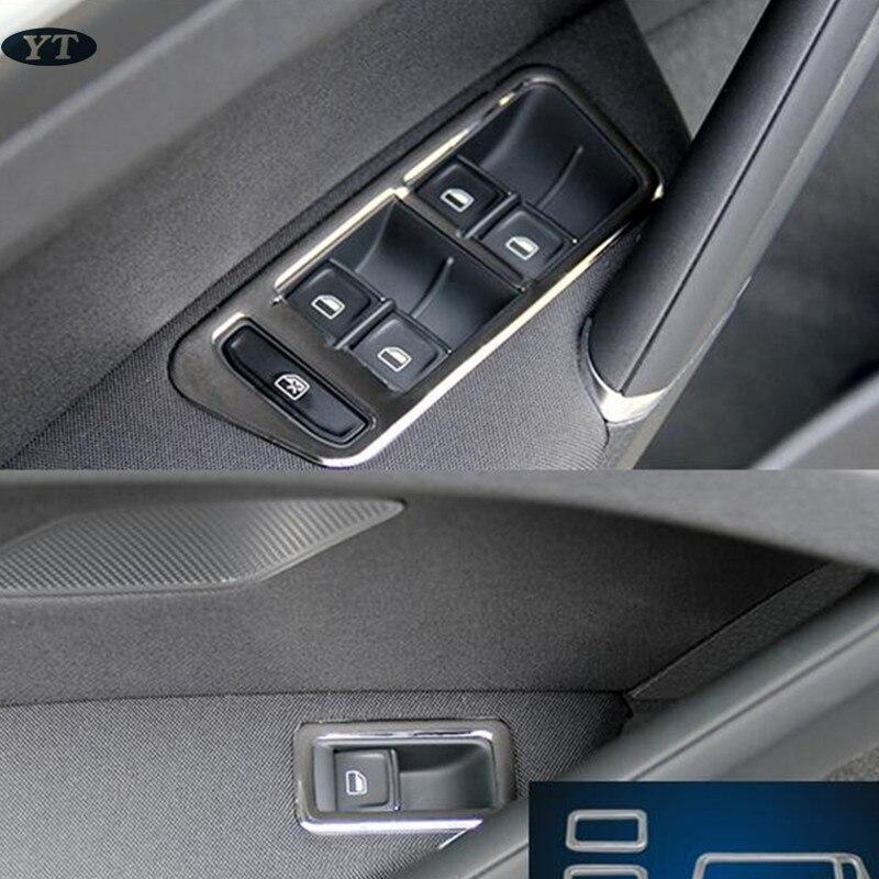 Embellecedor de manija de puerta interior embellecedor de reposabrazos para Golf 2014-2017, ABS cromado, accesorios para automóviles