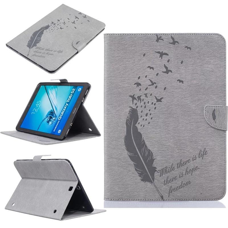 Роскошный чехол для планшета Samsung Galaxy Tab S2, 9,7 дюйма, SM-T810, из искусственной кожи, с откидной крышкой, бумажником, подставкой, чехол для T810 T815