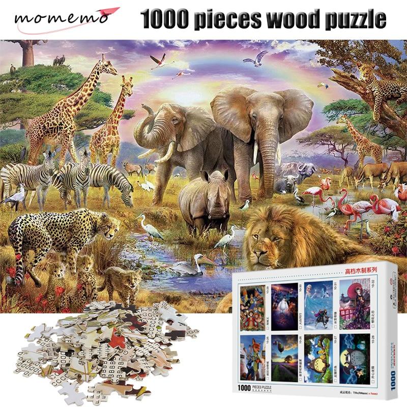 Пазл MOMEMO «Рай для животных», деревянный развлекательный пазл для взрослых, 1000 деталей, сборная игра, детские игрушки, 1000 шт.