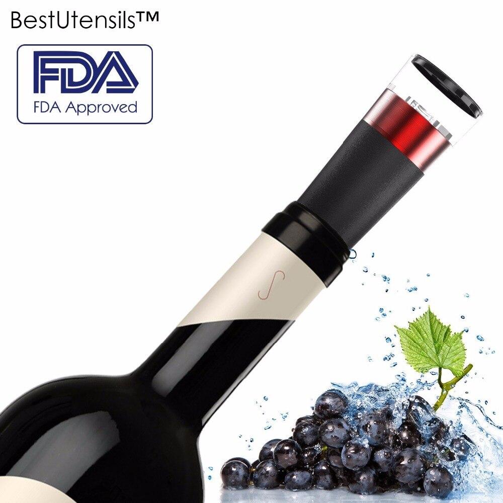 Rolha de Garrafa de Vinho de Vácuo De alumínio Reutilizável All in One Barware Wine Saver Bomba Sealer Rolha de Cortiça para Ar Comprimido