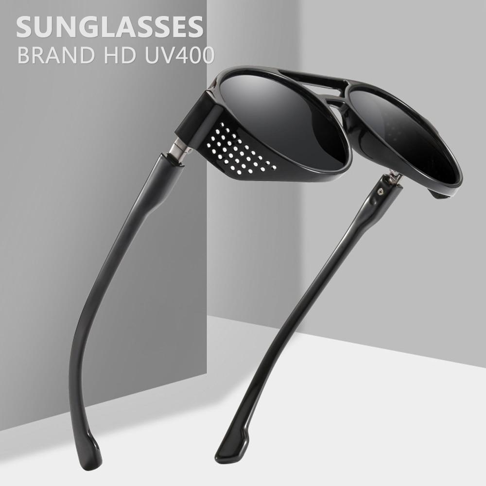 2019 óculos de sol homens steampunk retro hippie óculos redondos oculos redondo vintage tendências produtos tons