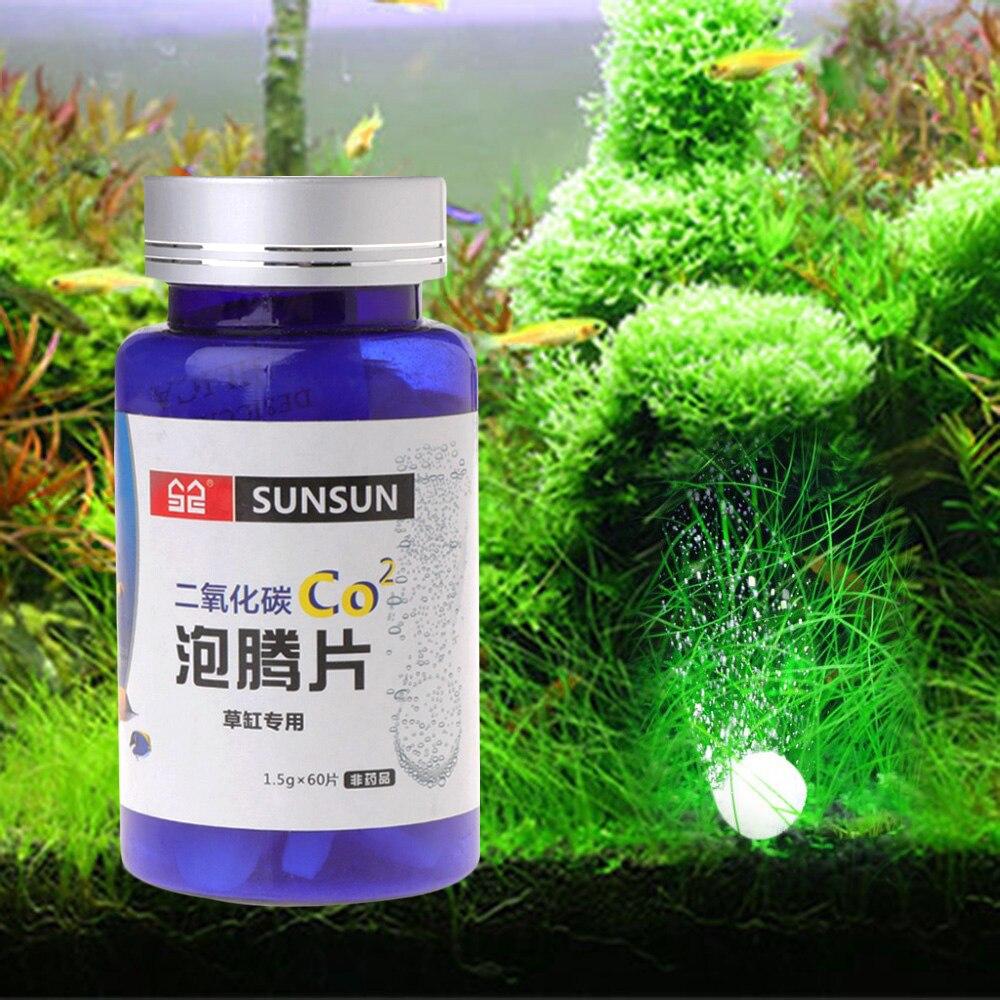 SUNSUN 60 шт., таблетки для аквариума CO2 углекислого газа, для растений, аквариумных аквариумов, распылитель живой воды, травы, СО2, аксессуары для аквариума