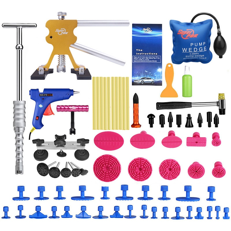 PDR Tools Car Body Paintless Dent Repair Kit Reverse Hammer Dent Lifter Puller Removal Tool Set Suction Cup for Remove Dents