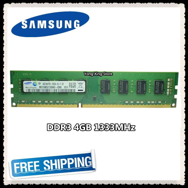 سامسونج سطح المكتب DDR3 4GB 1333MHz 4G ذاكرة الكمبيوتر PC3-10600U PC RAM الأصلي 10600