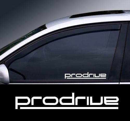Calcomanía para ventana con logotipo de Prodrive cromado, gráfico, opción de color,...