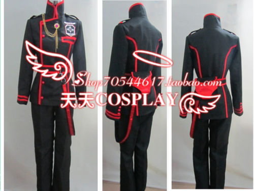 D cinza-homem allen walker 3rd uniforme cosplay traje k002