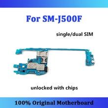 Odblokowany dla Samsung Galaxy J5 J500F płyta główna pojedynczy/podwójny SIM z chipami płyta główna płyta główna oryginalny J500F zastąpiony pokładzie