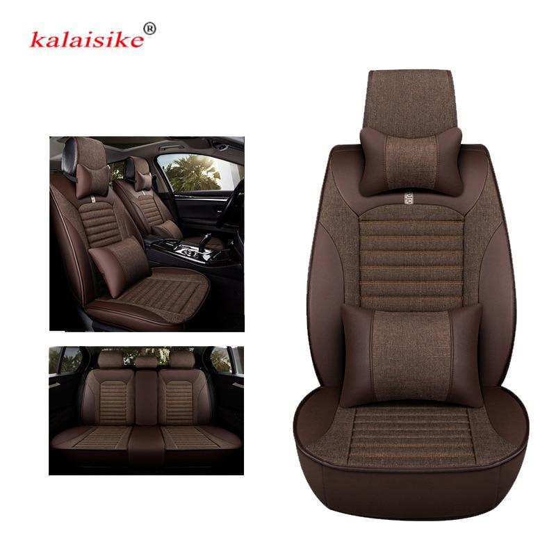 Kalaisike cubiertas universales de asiento de coche para Volkswagen todos los modelos VW golf passat touared Touran polo Variant magotan JETTA BORA