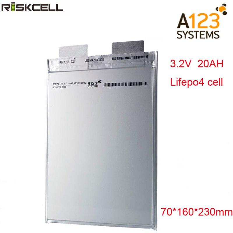 بطارية lifepo4 ، ليثيوم بوليمر ، 3.2 فولت ، 20000 مللي أمبير ، 3.2 فولت (A123) ، قابلة لإعادة الشحن ، للدراجة الكهربائية ، السيارة ، السيارة الكهربائية ، ...