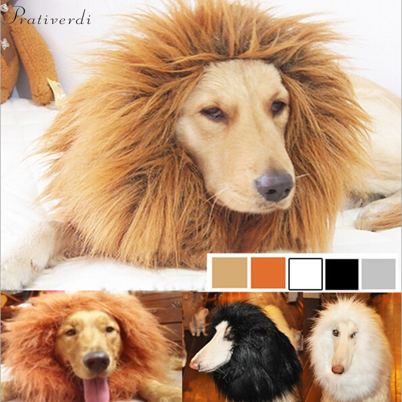 Cute Pet Cosplay Clothes Transfiguration Costume Lion Mane Winter Warm Wig Cat Large Dog Party Decor
