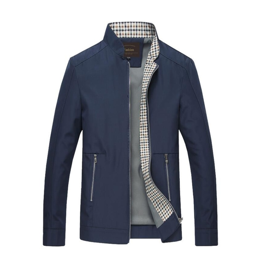 2018 otoño hombres nueva cremallera Casual bolsillo delgado para hombres chaqueta de alta calidad delgada de manga larga ropa de béisbol moda Fitness chaqueta