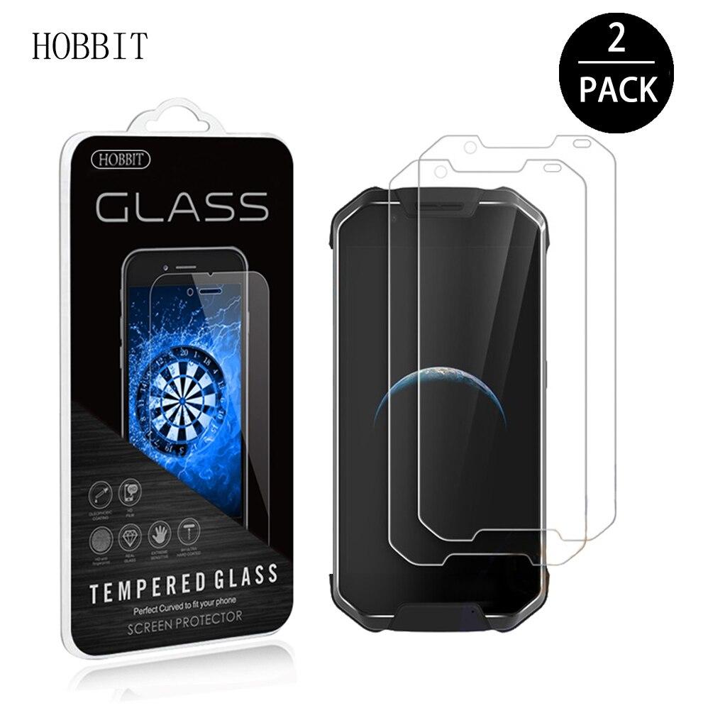 2 pacote para agm x2 0.3mm 2.5d 9 h claro protetor de tela de vidro temperado original película protetora anti-risco lcd para agm x2