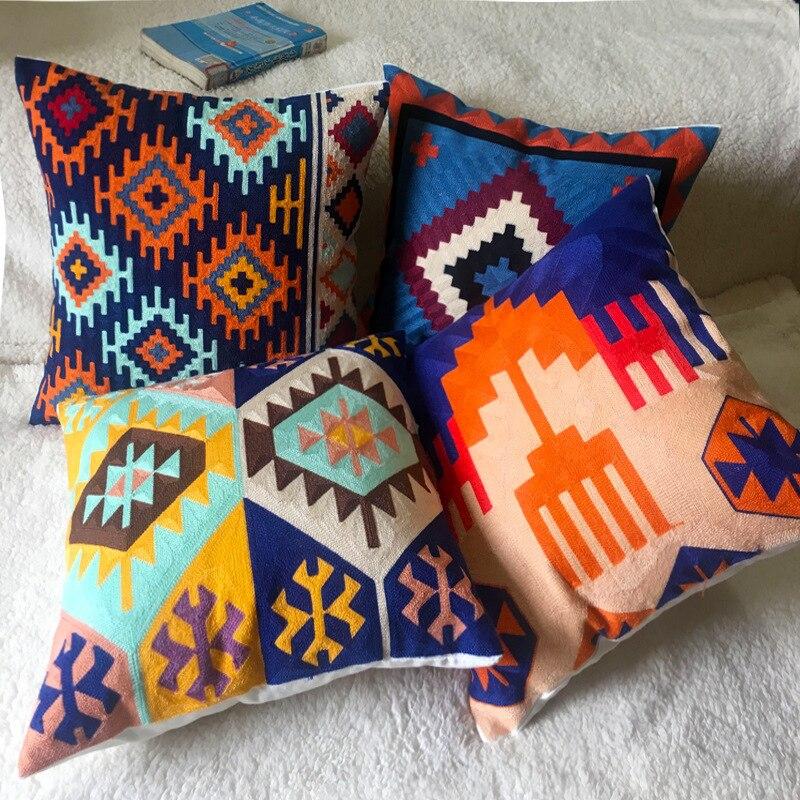 Stickerei Kissen Cover Home Decor werfen kissen abdeckungen Sofa boho kissen abdeckung Dekorative Kissen Fällen Für Couch 45x45cm